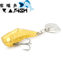 Fishing spoon lure metal bait hard Lure gold silver 7g 10g 14g 18g  20g 27g  fishing VIB Rotate the sequins