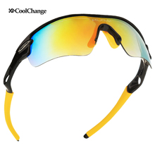 2018 Hot CoolChange Professional Cycling Glasses Unisex Sport Bike Road Outdoor Sports Bicycle Goggles Eyewear Accessories