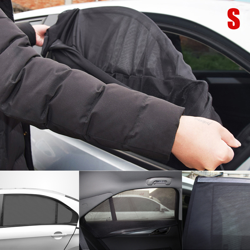 Image 2 - 2pcs Auto Windows Mesh Sun Shade Socks Mesh Cloth Covers UV Protector Baby Child Shield Universal-in Windshield Sunshades from Automobiles & Motorcycles