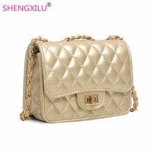 Shengxilu chaîne femmes bandoulière sac marque de mode femme sac designer or en cuir sac à main mini sac à bandoulière filles messenger sac