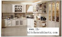 Rural Solid Wood Horizontal Kitchen Cabinets LH SW046