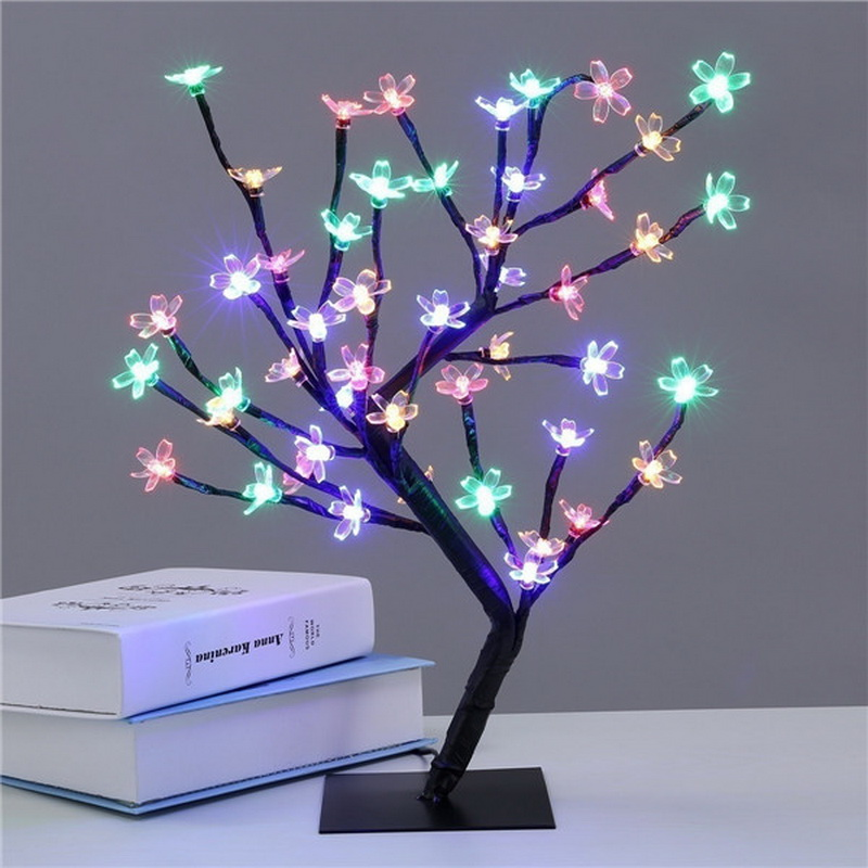 LED Cherry Blossom Rose Bonsai Table Lamp for Home/Festival/Party/Wedding Christmas Decor
