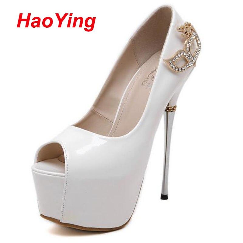 Rhinestone Wedding Shoes White Pumps Women Heels Shoes