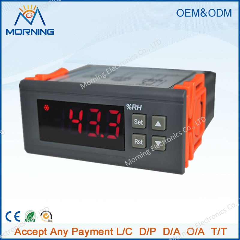 HC-110M Relay output 10A panel size 71*29mm LED digital display humidity controller