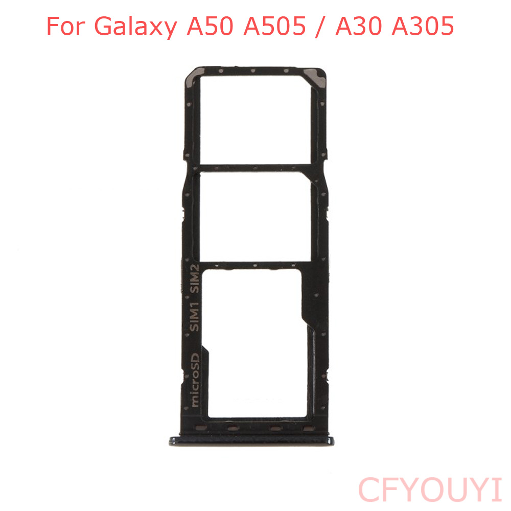 OEM For Samsung Galaxy A50 A505 / A30 A305 Dual SIM Tray Micro SD Card Tray Holder Slot Replacement