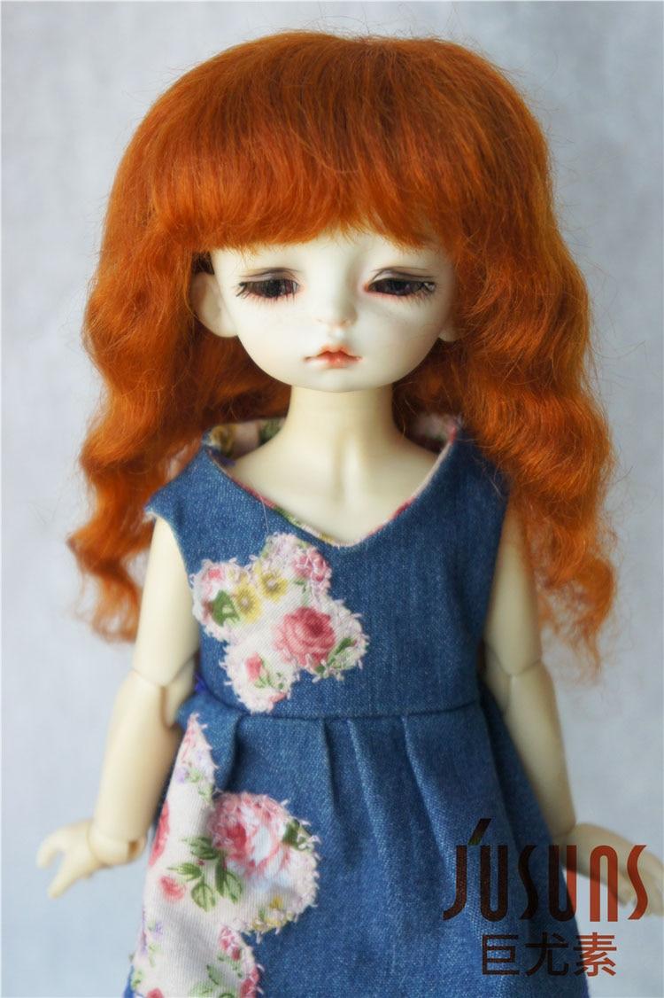 JD2528 1/6 YOSD   mohair doll wig  Long  Slight wave  bjd wigs 1 6 yosd bjd wig guyomi mohair wig 6 7inch doll accessories