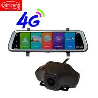 Udricare 10 дюймов ADAS DVR Wi Fi Bluetooth 4 г Android 8,1 gps HD 1080 P двойной объектив поток видео регистраторы зеркало заднего вида DVR