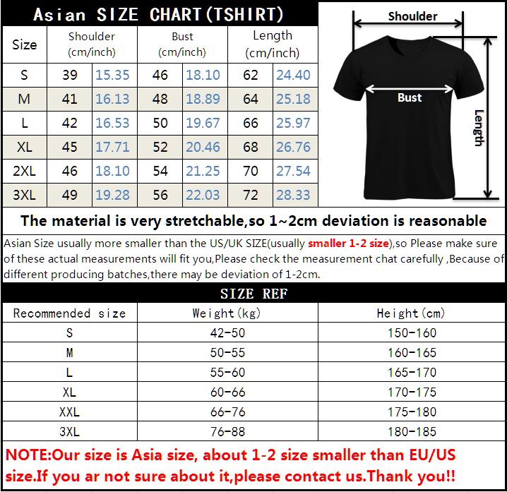 T恤尺码表加提示