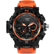 Men's sports watches male fashion casual waterproof quartz LED digital military electronic watch men clock relogio masculino