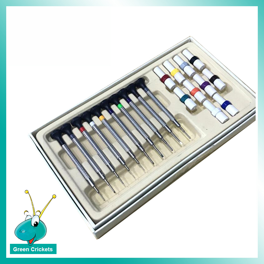 10pcs/kit High Quality Stainless Steel Watch Screwdriver set with Screwdriver with extra driver pins for each size,watch tool