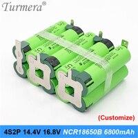 5s2p battery 18650 pack ncr18650b 6800mah 18v 21v welding solder battery for screwdriver tools battery customized battery