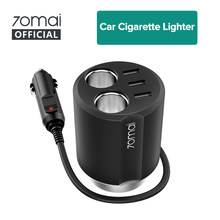 Xiaomi 70mai Car Cigarette Lighter Socket Splitter USB Car Auto Power Adapter 70 mai Car Charger Car Plug splitter(China)