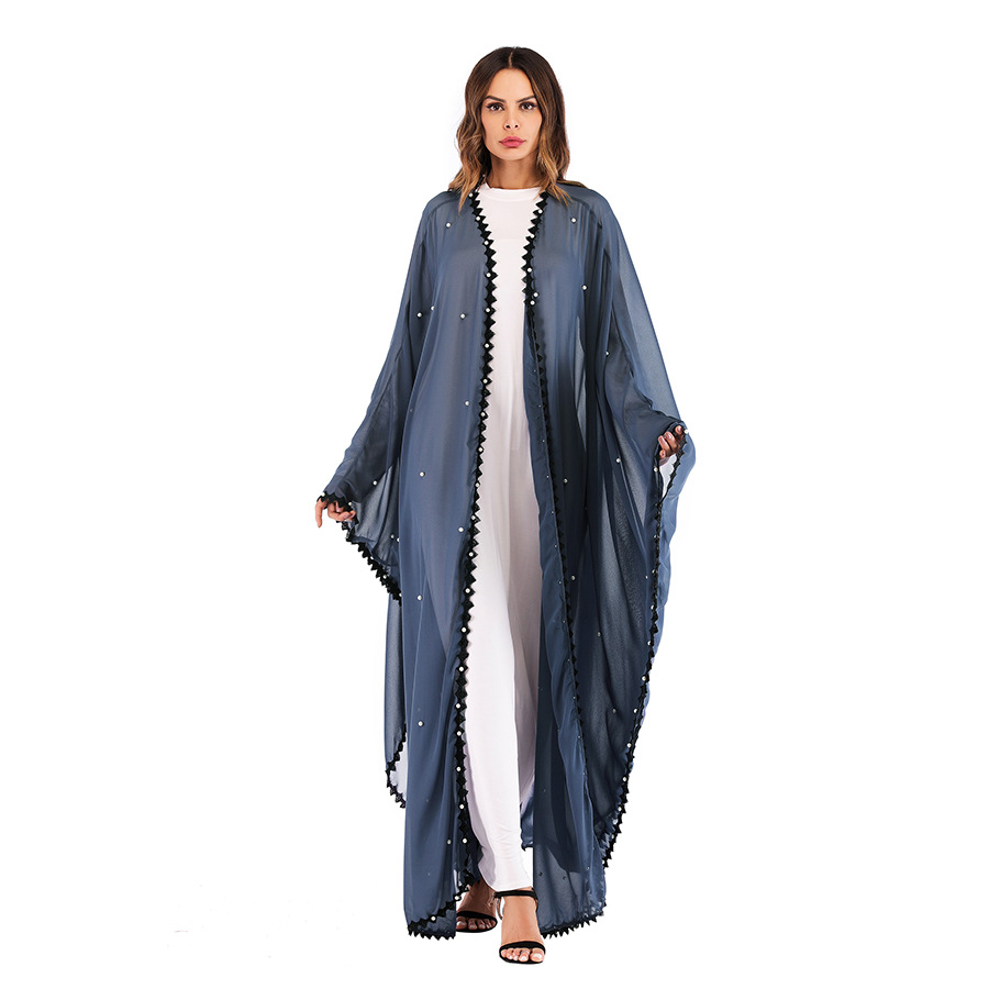 Loose Plus Size Long Cardigans 2019 Spring Summer   Trench   Coat For Women Open Stitch Asymmetric Length Beading Windbreaker TP1653