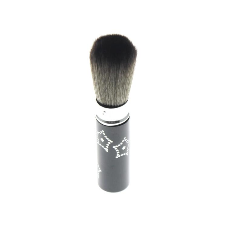 Black Aluminium Retractable Holder Grey White Hair Great Maquiagem Make Up Face Foundation Blush Powder Makeup Cosmetic Brush