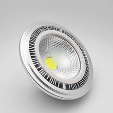 купить Wholesales-High Power Dimmable GU10 15W COB AR111 LED Spotlight 15W ES111 LED Recessed light G53 AR111 LED Bulb Lamp AC85-25V по цене 15755.24 рублей