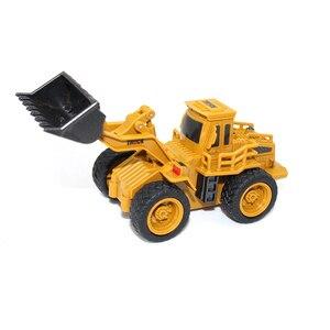 Image 5 - Rcトラック1:64リモートコントロール建設車のミニショベルシミュレーションモデルエンジニアリング車掘りおもちゃクレーンブルドーザー