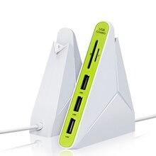 Все в одном USB COMBO 3-узлов порт USB устройство и синхронизации данных 2.0 концентратор + Мульти USB Card Reader для SD/TF, ноутбук настольные аксессуары