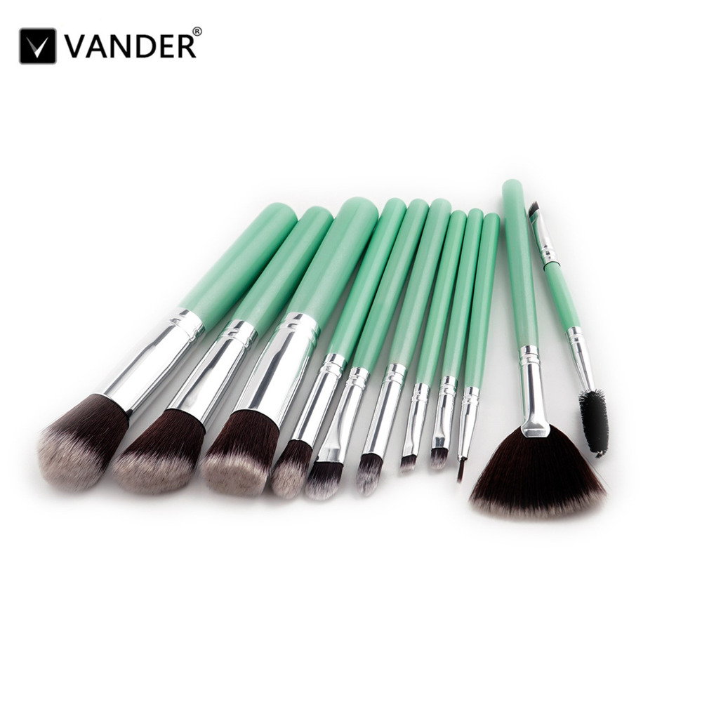 Vanderlife 11Pcs Pro Makeup Brushes Synthetic Hair Cosmetics Beauty Eyeshadow Make Up Brush Set Blush Blender pincel maquiagem 24pcs beauty makeup brushes set cosmetics foundation eyeshadow eyeliner lipstick make up blush soft brush bag pincel maquiagem