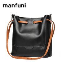 MANFUNI Europe Women Leather Handbags High Quality Cowhide Handbag Leather Women Bag Travel Bag Carteira Feminina