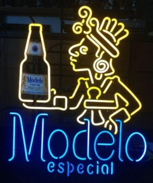 Custom Modelo Glass Neon Light Sign Beer Bar