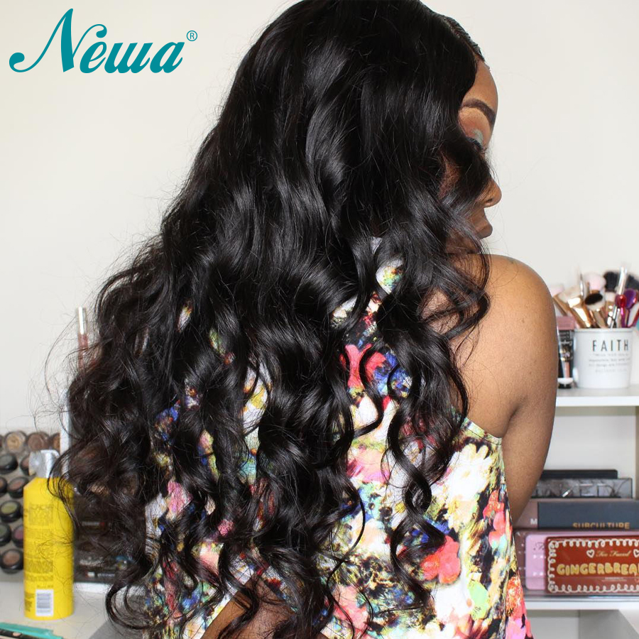 Image 2 - NYUWA Lace front Wigs Wavy Remy Hair Lace Front Human Hair Wigs Pre Plucked With Baby Hair Brazilian Lace Wigs For Black Women-in Human Hair Lace Wigs from Hair Extensions & Wigs