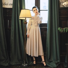 Ubei2019 New Spring dress fashion vintage long dress long sleeve lace slim high quality dresses караванова н м агерский лекарь