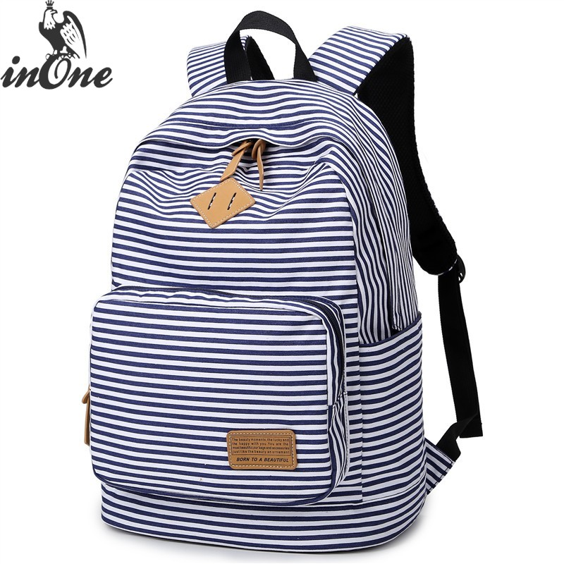 477eeb9f855b INONE 2019 унисекс морской полосатый Kanken путешествия девушка подросток  дети школьные Mochila классический холст рюкзак для