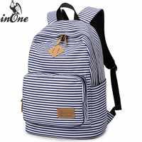 84c3037526b2 INONE 2019 унисекс морской полосатый Kanken путешествия девушка подросток  дети школьные Mochila классический холст рюкзак для