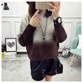 NUEVA venta caliente de la mujer otoño invierno primavera short knit suéteres mujer colegio viento dulce patchwork jerseys sweater