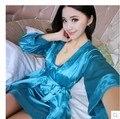2016 verão sexy sleepwear fêmea laço vestido de roupas em casa pijamas de seda camisola suspender pijama das senhoras de cetim sem costas mais
