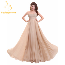 Bealegantom Sexy Fashion Sequined A-Line Evening Dresses 2017 With Beading Chiffon Formal Party Prom Gown Vestido De Festa BE1-4