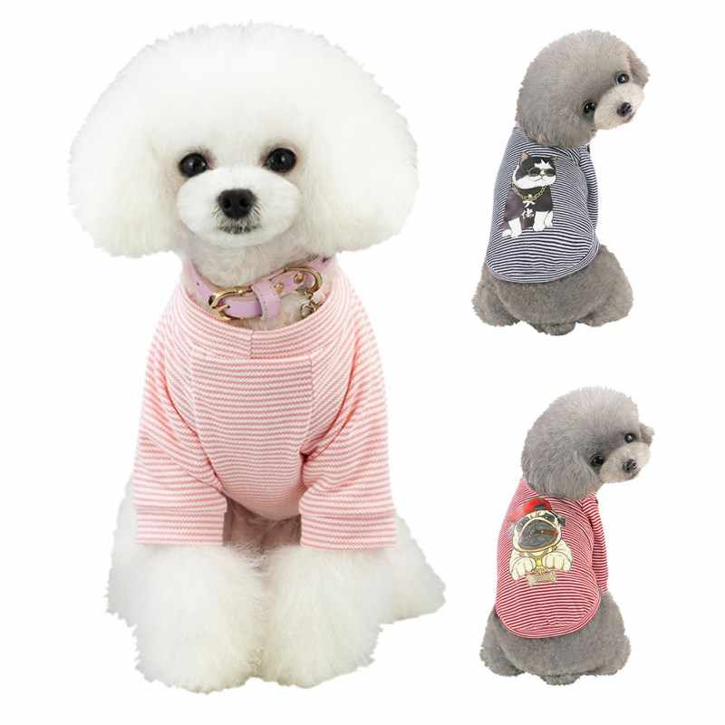 Spring Summer New Hip Hop Dog Pattern Vest Pet Dog Clothing Dress Clothes Costume for Cut Pet Puppy Outdoor Wearing Soft