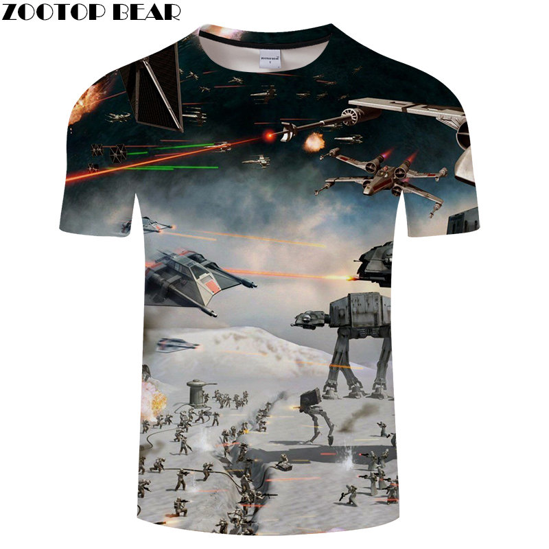 Snow mountain Anime Men Shirt 3D Print Star Wars Lego Shirts Quick Dry Male Fitness Breathable Summer Casual Tops ZOOTOPBEAR