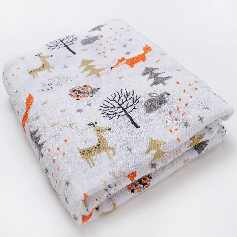 Новинка; хлопковые Супермягкие подгузники из муслина; детское одеяло; Банное полотенце; пеленка; аксессуары для детской кровати; детское одеяло для новорожденных - Цвет: The fox tree