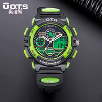O.T.S Children Sports Watches Students LED Digital Kids Watch For Boys Fashion Multifunctional 50M Waterproof Wristwatches