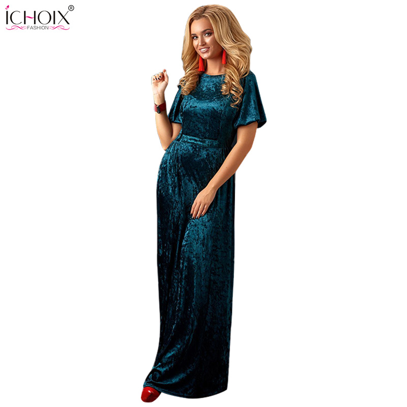 2019 Autumn Velvet Long Dress Women Winter Floor Length Bodycon Dresses Vintage Femme Elegant Evening Party Maxi Dress Vestidos