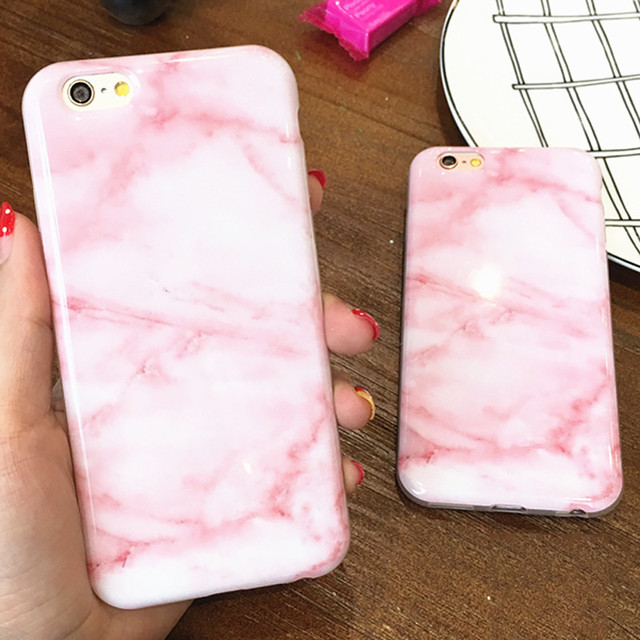 buy popular c3dd6 0ca1f US $3.86 |Wine Red Pink Marble Soft TPU Case For IPhone 7plus For iPhone 6  6S 7 Stylish Cute Unique Phone Cover Cases Girls Coque-in Fitted Cases from  ...
