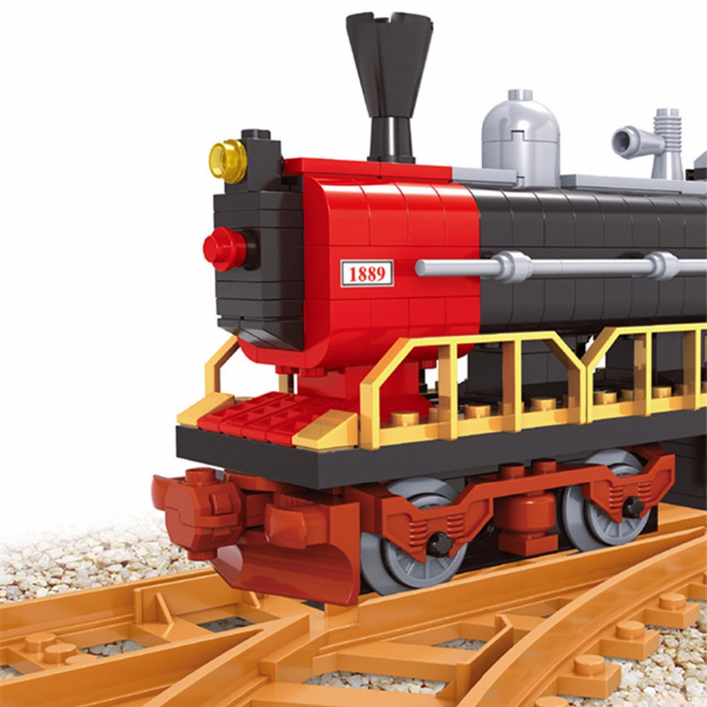 406 PCS Classical Train,Vintage Railway Train Toy,3D Puzzle Building Brick Toys Set for Kids,Hobby Toys for Children,Party Favor led 3d puzzle toys l503h empire state building models cubicfun diy puzzle 3d toy models handmade paper puzzles for children