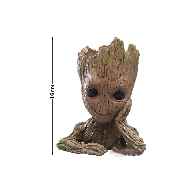 Guardians of The Galaxy Baby Groot Figure Flowerpot Pen Pot Toy Decor Kid Gift E