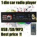 Новое Прибытие 12 В Автомобилей Радио FM Mp3-плеер со слотом USB SD поддерживает Воспроизведение MP3 WMA WAV образованию музыка дистанционного управления 1 DIN 1042A