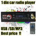 Nueva Llegada 12 V Car Mp3 Radio FM con la ranura del USB SD soporta la Reproducción de MP3 WAV WMA música forma de control remoto 1 DIN 1042A