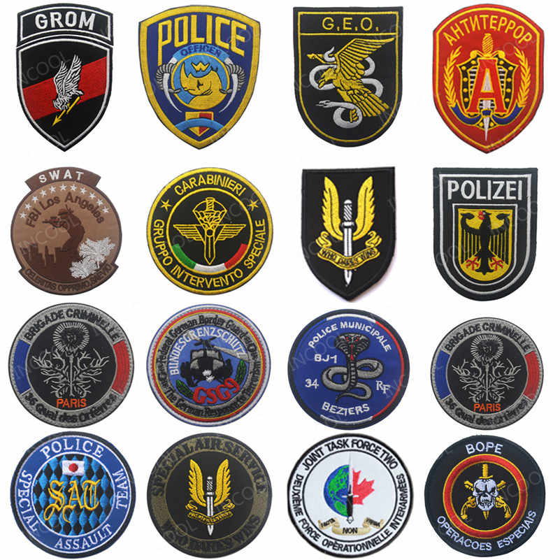 France Italy Poland Spain Germany Russia Embroidery Patch US Army Military Morale Patches Tactical Combat Emblem Applique Badges