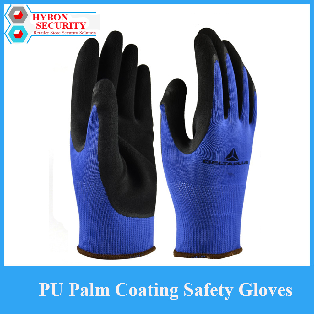 1Pair Working Gloves Men Wear-resistance PU Palm Coating Safety Gloves Latex Protective Security Glove For Work Leather Gloves