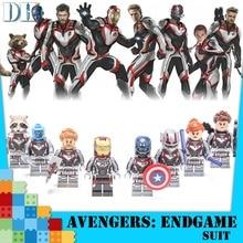 Avengers 4 Endgame Thanos Building Block Captain Marvel Iron Man Thor Figured Blocks Children Toys Dropshipping все цены