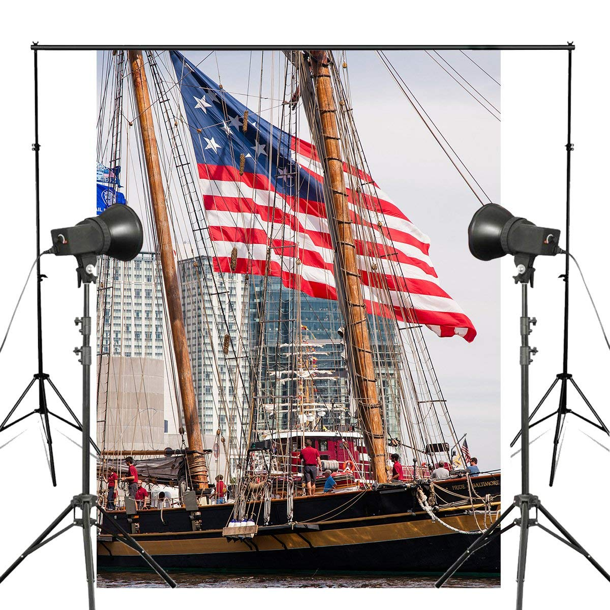 Высокий корабль фотографии реквизит для студии, фон стены реки воды фон 5x7ft-in Аксессуары для фотостудии from Бытовая электроника