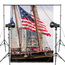 Fondo de fotografía de barcos altos accesorios de estudio pared río agua fotografía telón de fondo 5x7ft