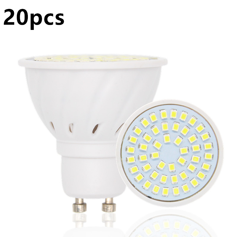 20pcs/lot Lampada De LED Lamp GU10 Bombillas Led Bulbs GU 10 220V 2835 Ampoule LED Spotlight Candle Luz Lamparas Lampadas Lights цены онлайн