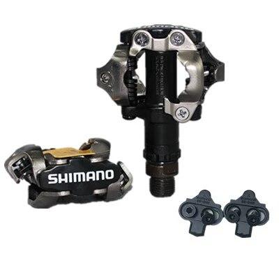 Apuesto Pedal De Bicicleta De Montaña Shimano Pd-m520 Con Bloqueo Automático Spd M520 Mtb Con Pinzas Pd22 Originales