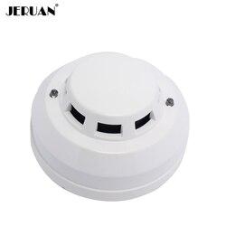 Optoelectirc JERUAN 12 V DC detector de fumaça com fio sensor de usar para verificar o fogo ou anti queima algo se conectar ao fio zona