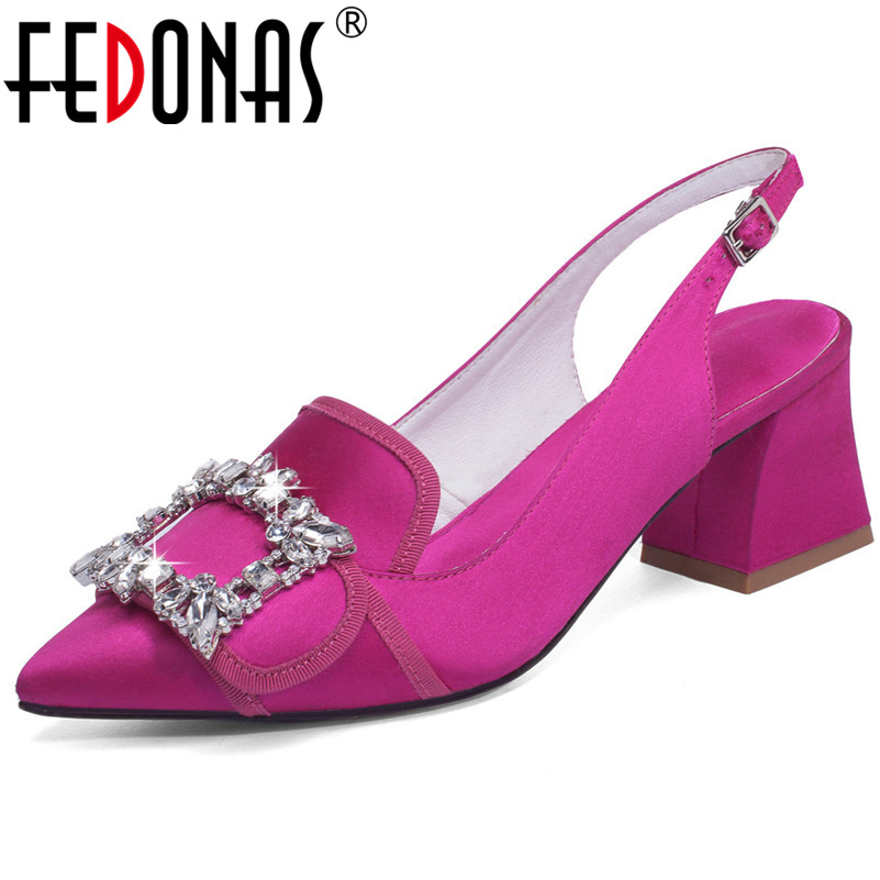 FEDONAS Fashion Sexy High Heels Party Wedding Shoes Woman High Quality Silk Pointed Toe Spring Summer Shoes Sandals FEDONAS Fashion Sexy High Heels Party Wedding Shoes Woman High Quality Silk Pointed Toe Spring Summer Shoes Sandals